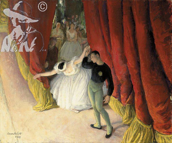 Curtains Ideas curtain paintings : Laura Knight - Oil Paintings and Watercolours - Dame Laura Knight