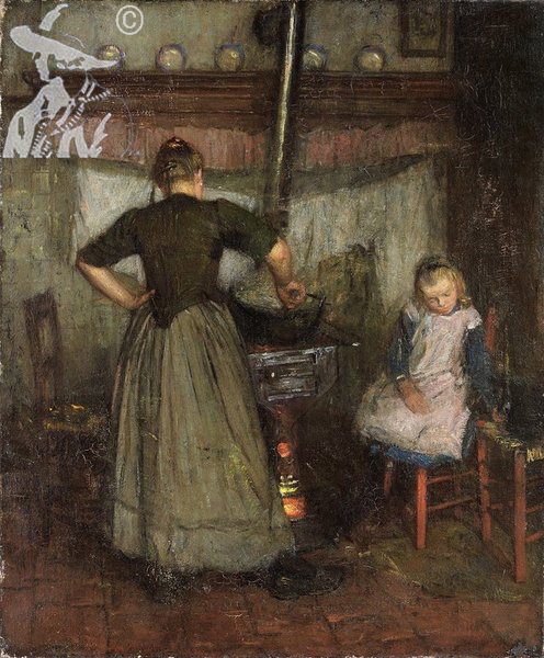 A Mother and Child in a Kitchen c1905/08
