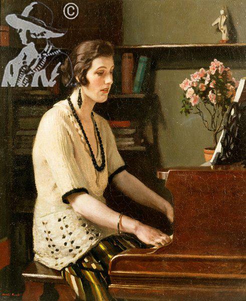 At the piano 1921