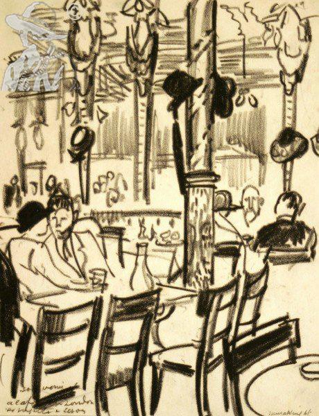 Cafe Scene 1922