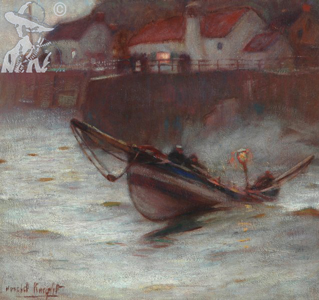 Coble at Staithes 1900's