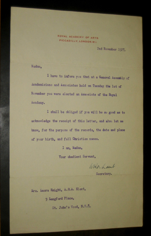 1927 2 Nov - elected RA Associate