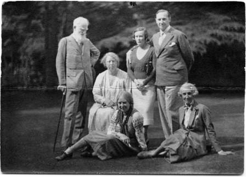 1936 Malvern Festival GBS-Gudrun Megel-LK-BJ cousin-BJ- Gwen Lally