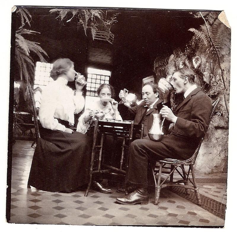 c 1897 Nottingham - Having fun at the Rosie Good's house