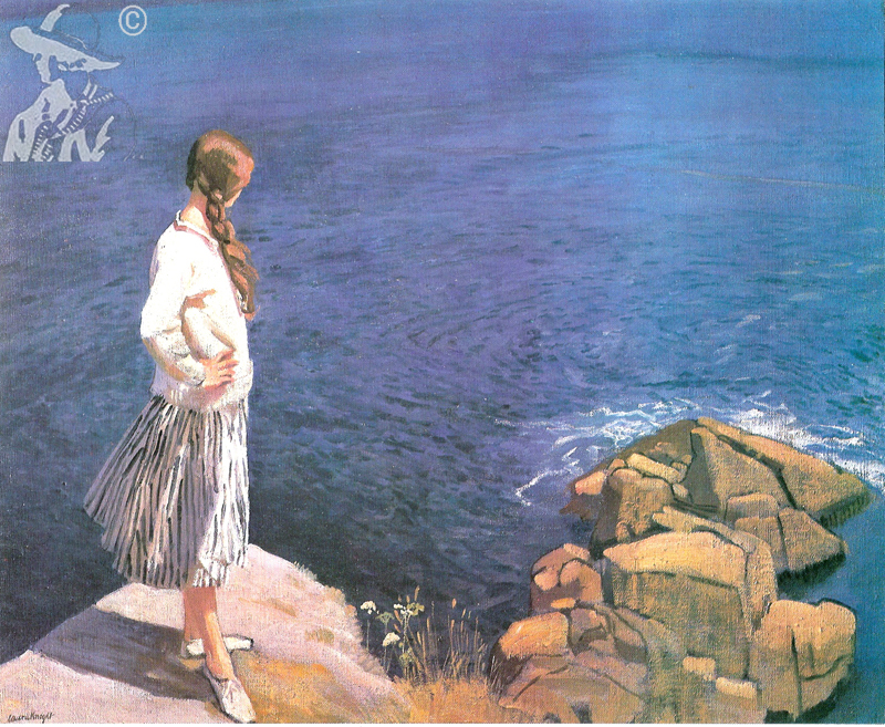 At the Edge of the Cliff 1917