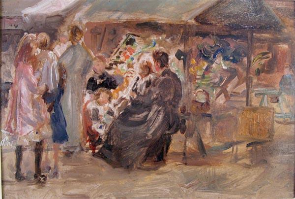 A Market stall c 1890